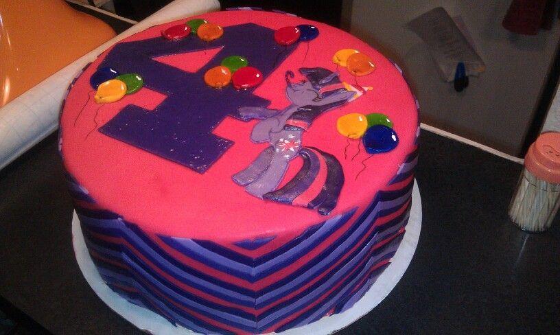 My little pony twilight sparkle cake My cakes Pinterest