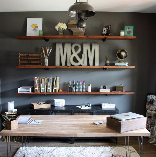 industrial style home office. industrial home office ideas | offition style n
