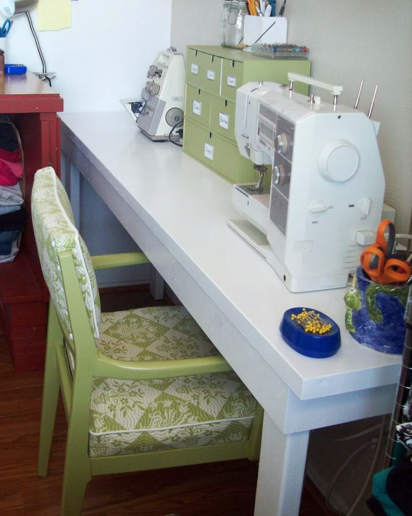 Attractive Sewing Table From Door   @Running With Scissors | Home   Office U0026 Craft  Space | Pinterest | Drawer Unit, Craft Tables And Repurposed