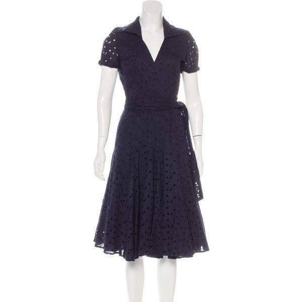 Pre-owned Diane von Furstenberg Eyelet Wrap Dress ($125) ❤ liked on ...