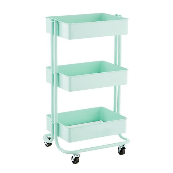 Mint 3 Tier Rolling Cart House Stuff In 2019 Craft Storage