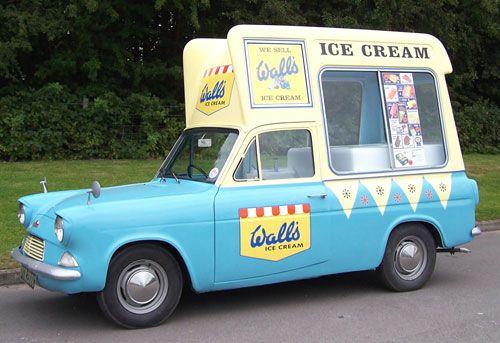 Wall S Ice Cream Ford Anglia Van Ice Cream Van Walls Ice Cream Vintage Ice Cream