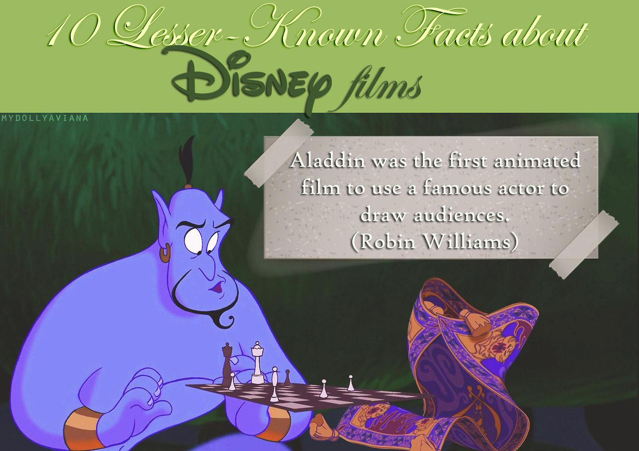 10 lesser-known facts about Disney films
