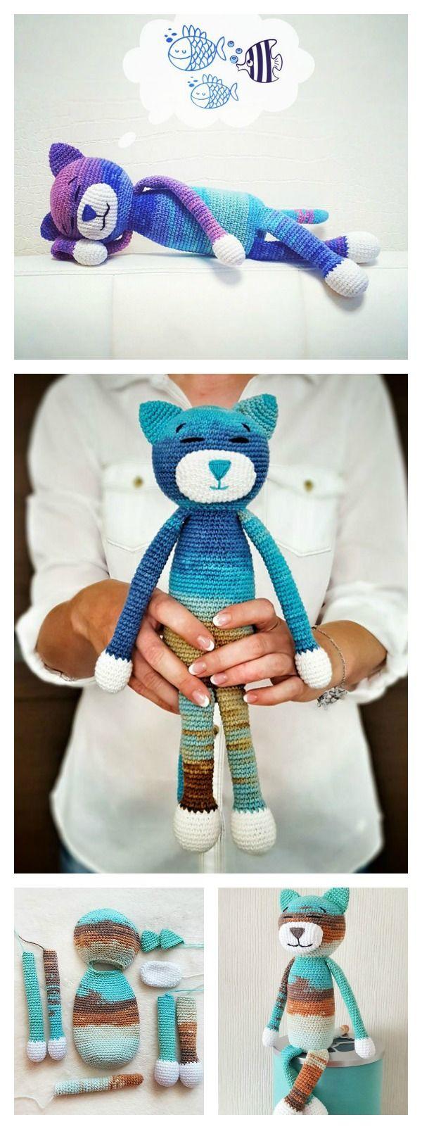 Crochet Amineko Cat with Free Pattern | Pinterest | Katzen häkeln ...