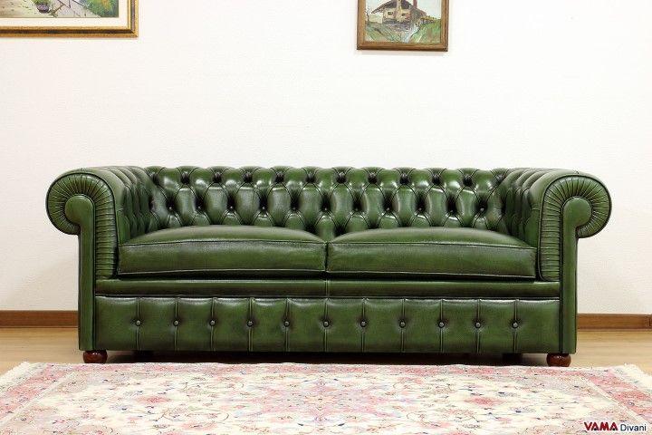 Chesterfield Divano ~ Divano chesterfield verde inglese divani chesterfield