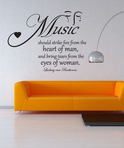 vinyl wall decal sticker music quote #os_dc523 | allie's room
