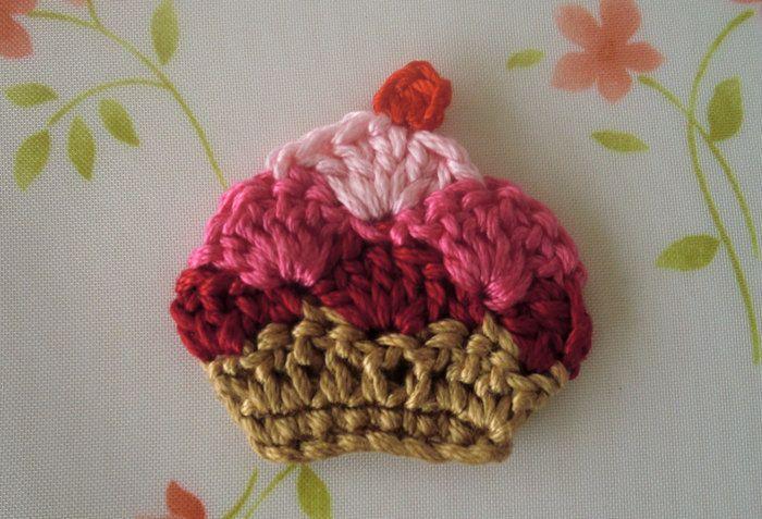 Cupcake Applique   Crochet   Pinterest