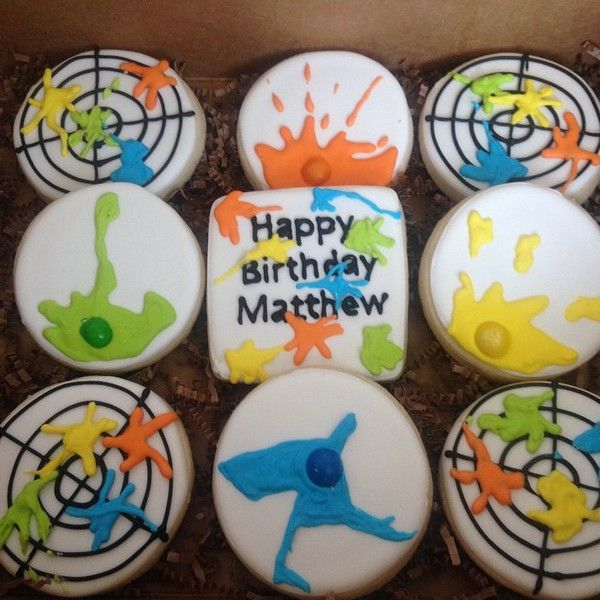 Paintball party cookies-simplysmittenbakery.com