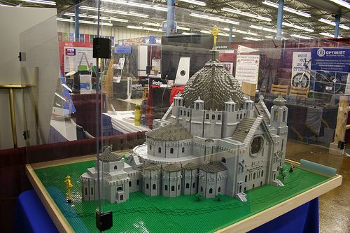 Cathedral of Saint Paul in LEGO as exhibited at the Minnesota State Fair by builder Roy Cook photo by amanjo