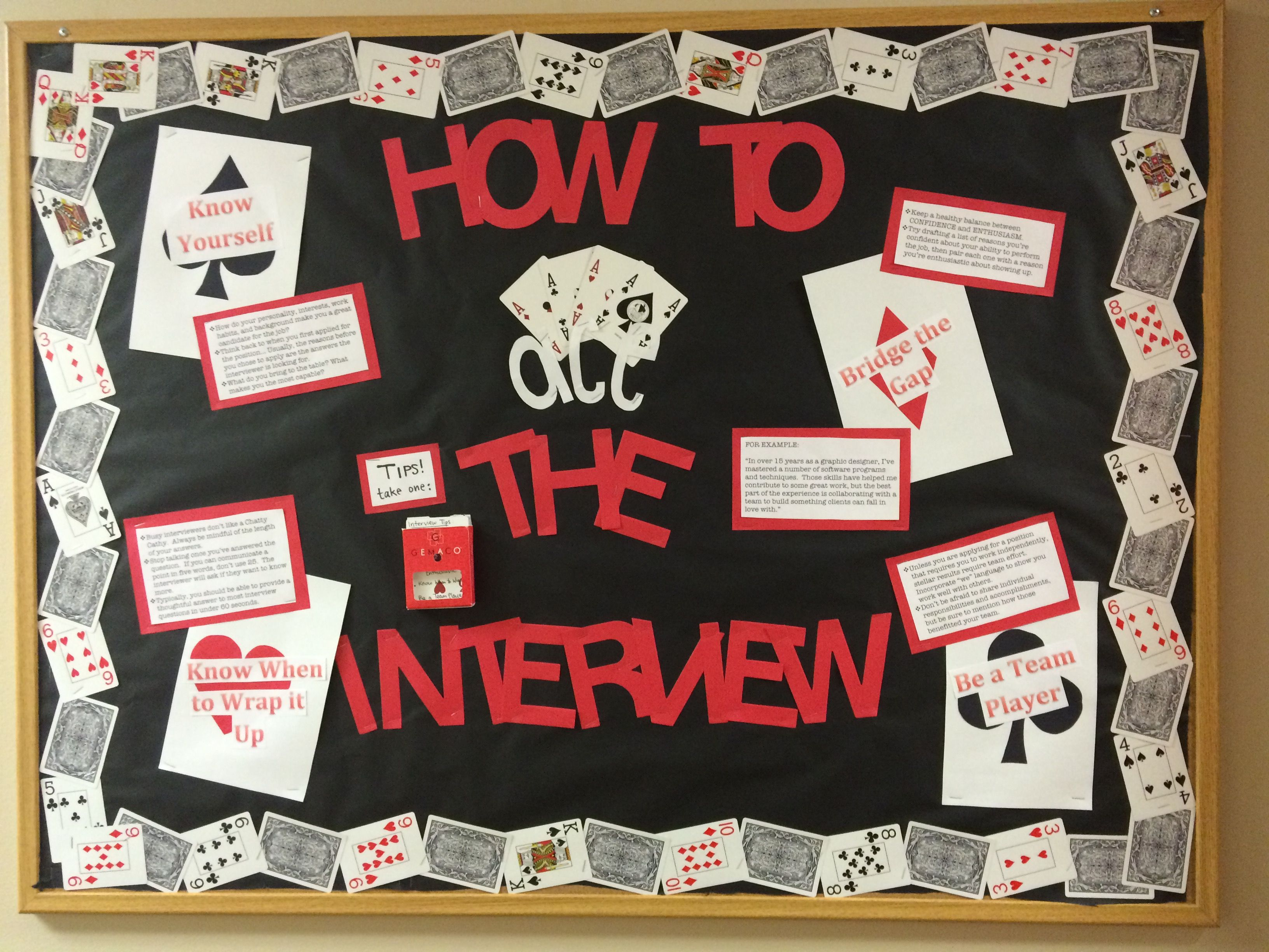 How To Ace The Interview Bulletin Board With Images Career