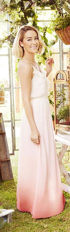 Who made Lauren Conrad's pink ombre maxi dress? | Lauren Conrad ...