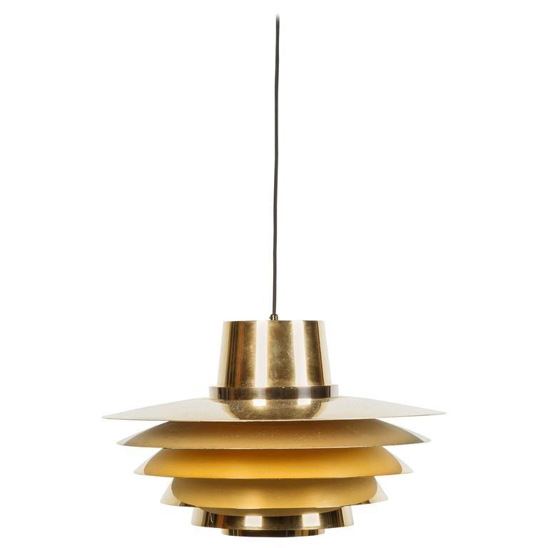 24Karat GoldPlated Verona Pendant by Svend Middelboe for