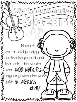 Classical Composers Coloring Sheets