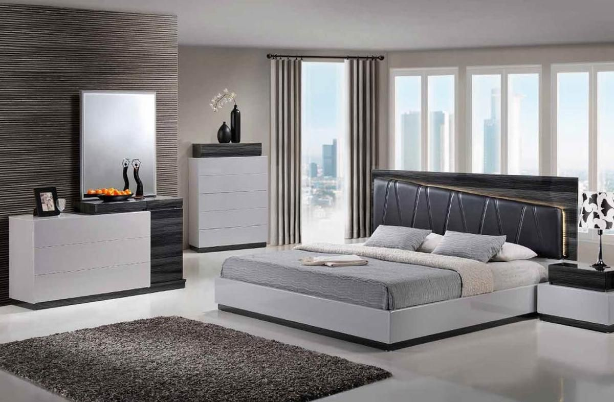Stylish Quality High End Modern Furniture  Modern king bedroom