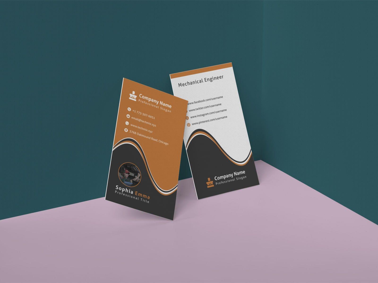 Mechanical Engineer Business Card Template Business Cards Collection Mechanical Engineering Business Card Template