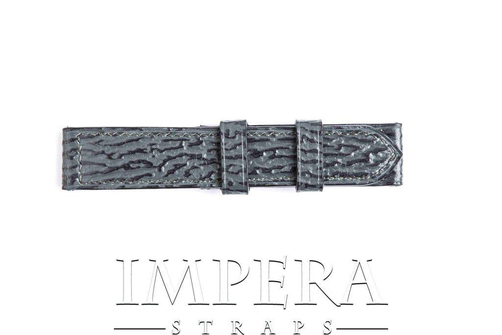 Genuine Grey/Black Shark Leather Watch Strap,https://www.imperastraps.com