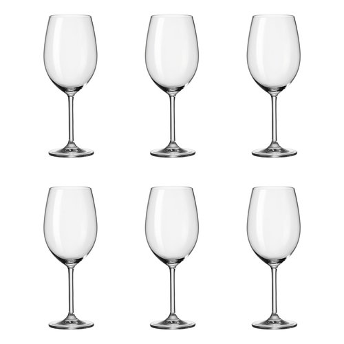 Daily 6 Piece Red Wine Glass Set Leonardo Wine Glass Set White