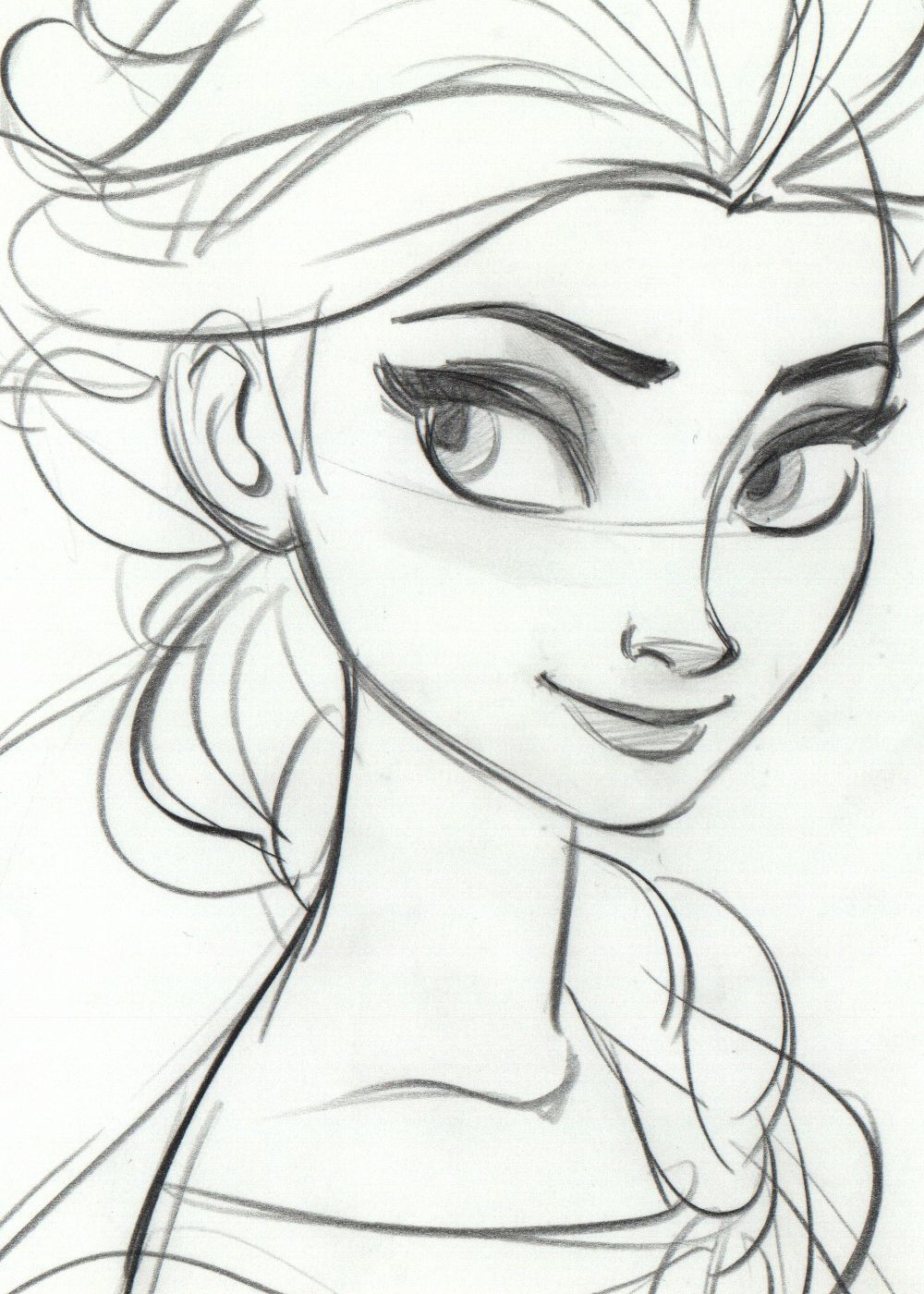 drawings of disney characters frozen google search - Kids Drawing Sketches