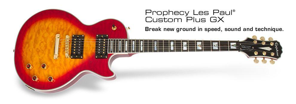 Epiphone Prophecy Les Paul Custom Plus Gx Hs Les Paul Custom Les Paul Epiphone
