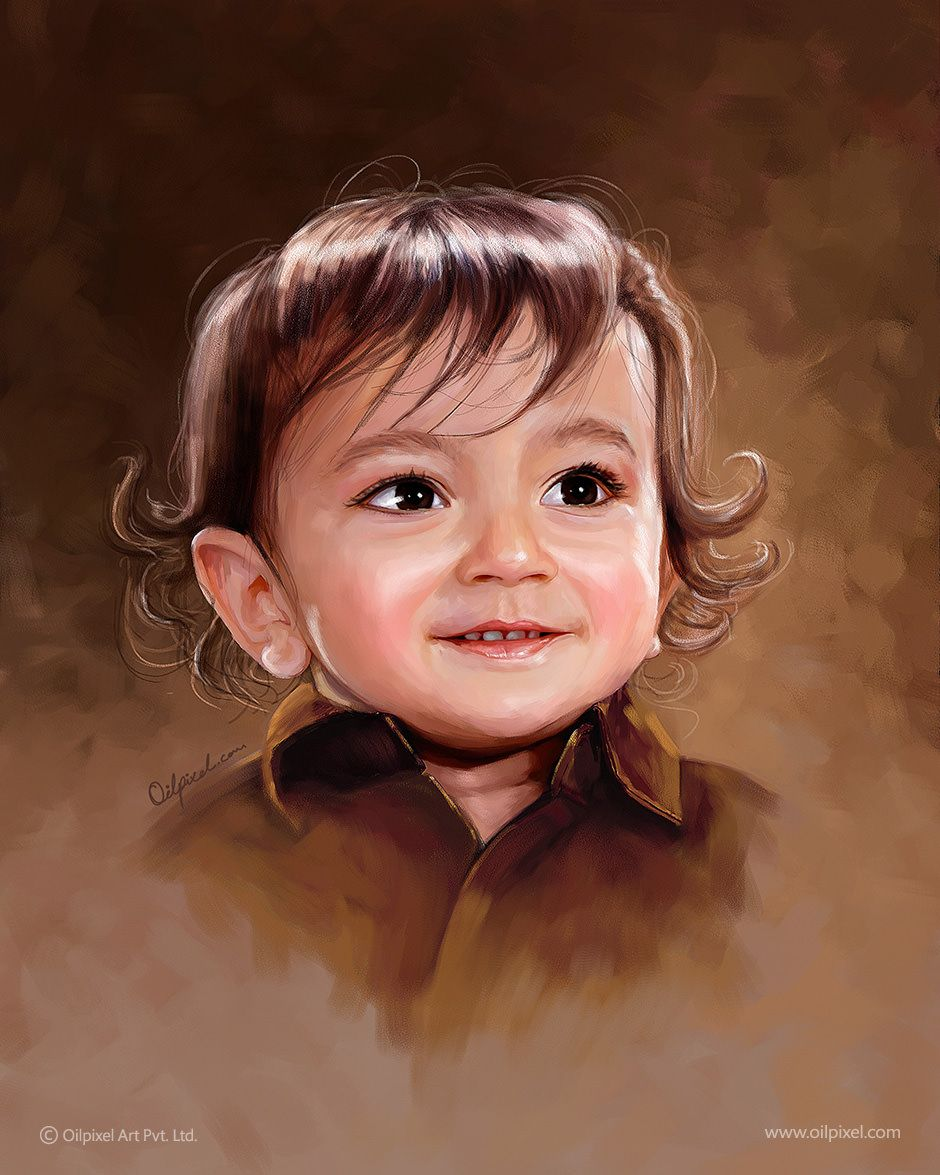 A digital portrait painting by Oilpixel, India based digital ...