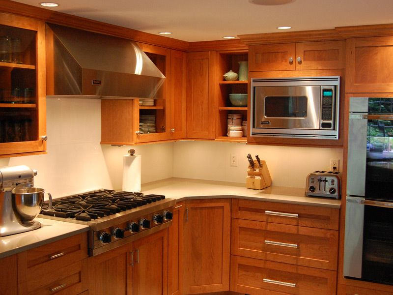 Cherry Cabinets With Quartz Countertops Google Search