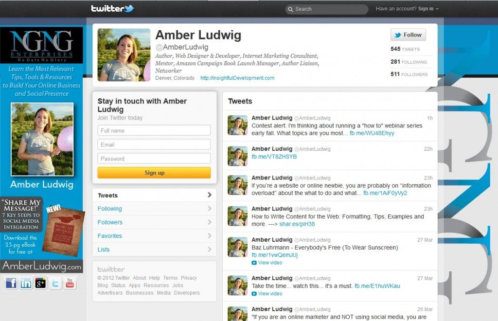Amber Ludwig personalized Twitter background ✍ www.pinterest.com/WhoLoves/Graphic-Design ✍ #graphics #twitter