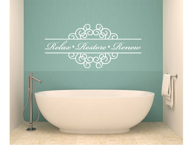 relax bathroom quote vinyl wall decal graphics
