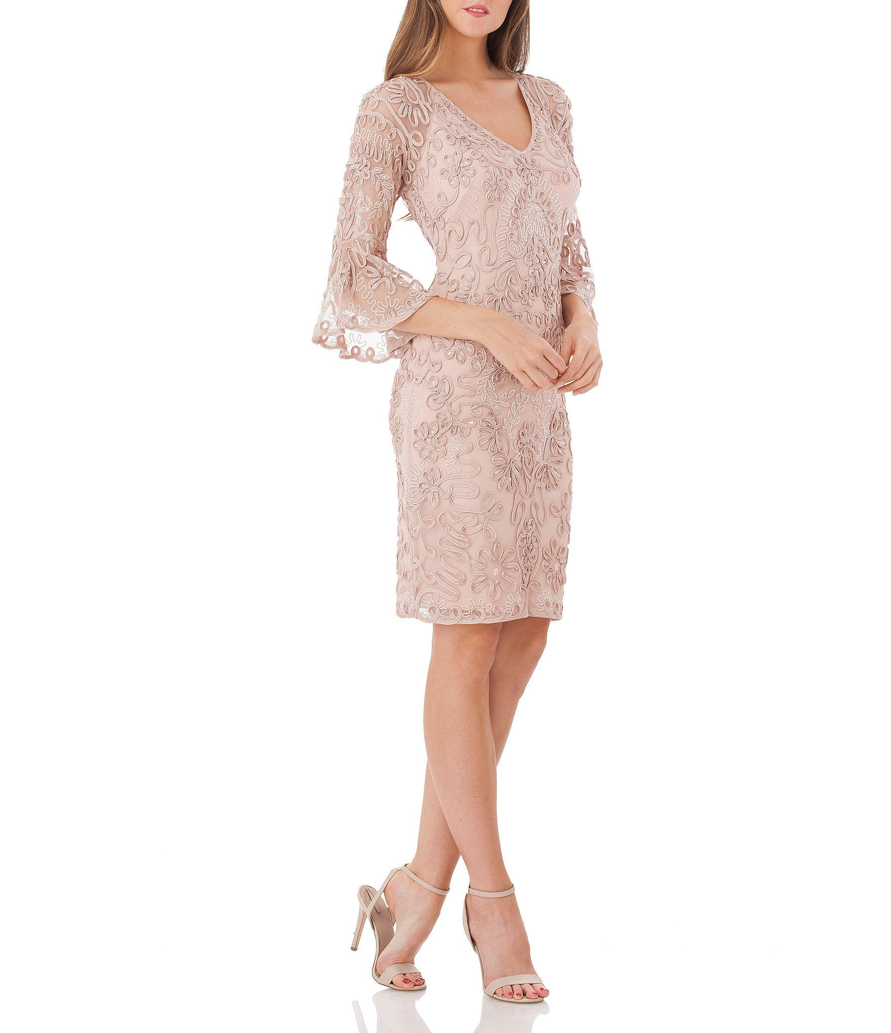 4ce6eb23 Shop for JS Collections Beaded Soutache Bell Sleeve Dress at Dillards.com.  Visit Dillards.com to find clothing, accessories, shoes, cosmetics & more.