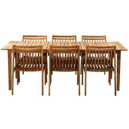 Havemøbelsæt – stort – natur teak sammen havemøbler i dansk design ...