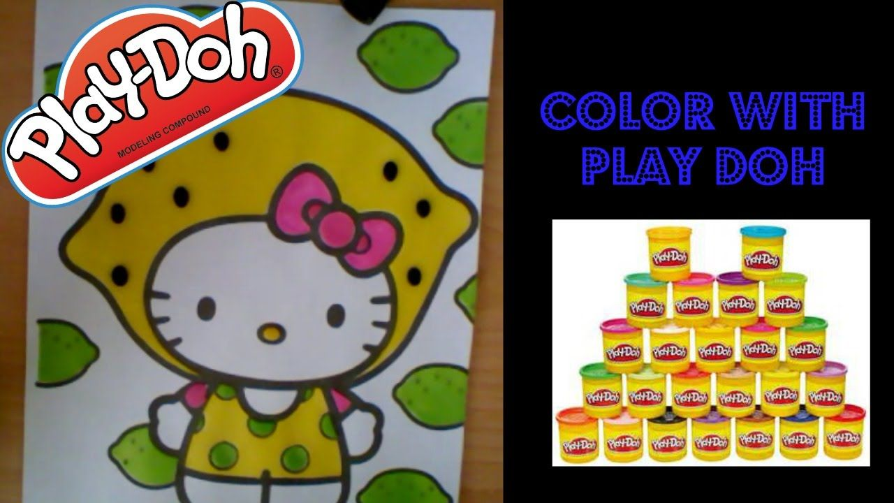 Play Doh Coloring Book Hello Kitty Lemon Head Hello Kitty Coloring Cat Coloring Book Hello Kitty Colouring Pages