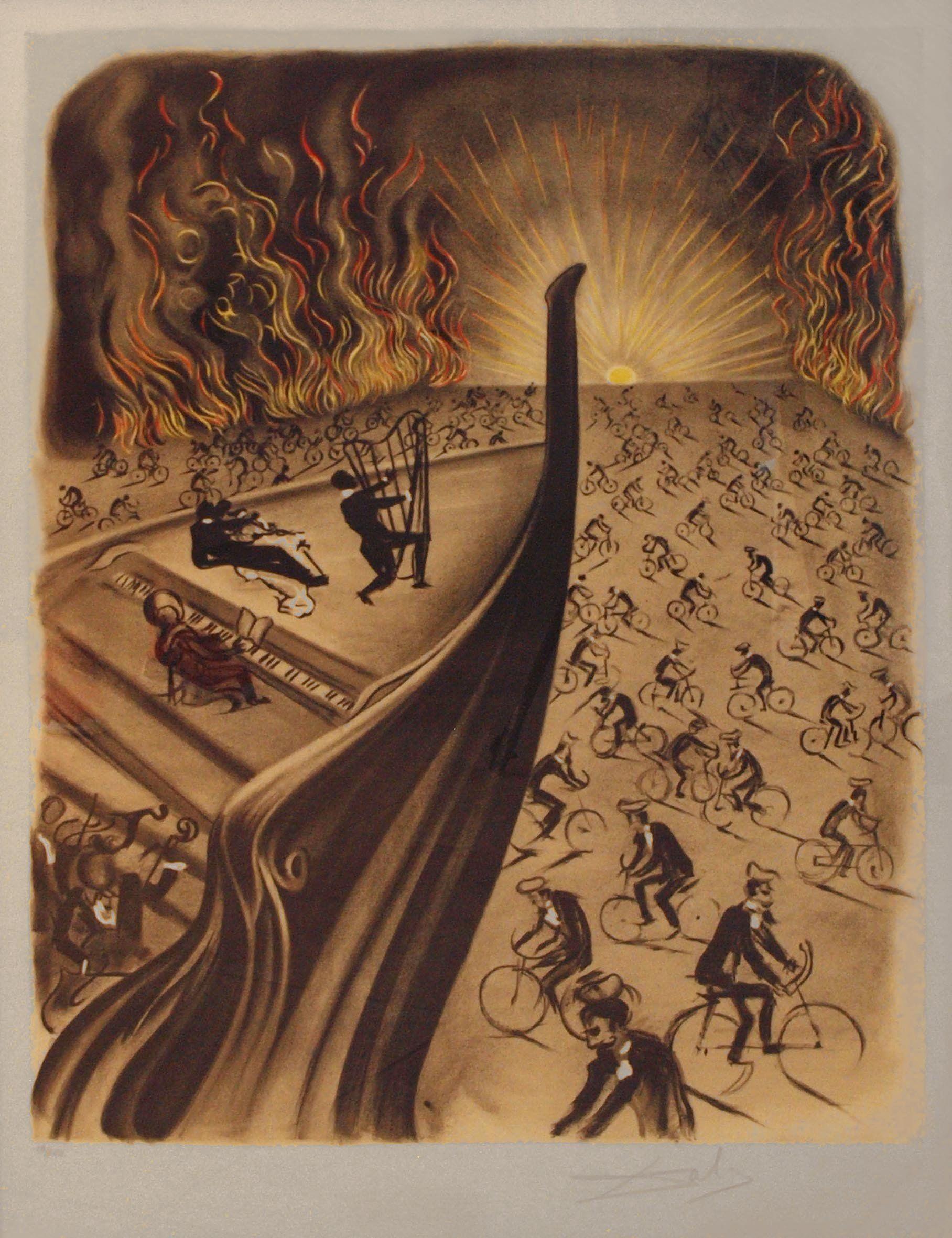 Symphony Bicyclette By Salvador Dali Salvador Dali Salvador