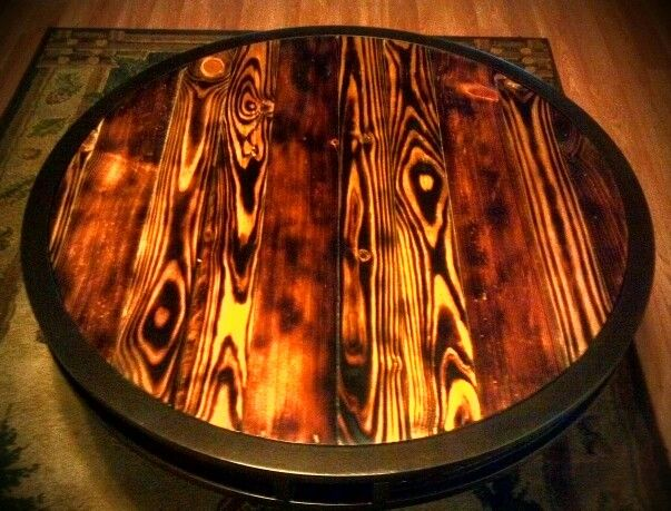 how to bring out wood grain with a torch