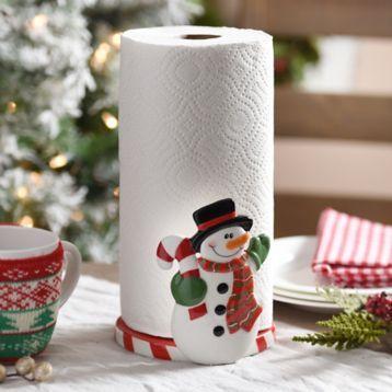 Snowman Paper Towel Holder Paper Towel Holder Christmas Decorations Towel Holder