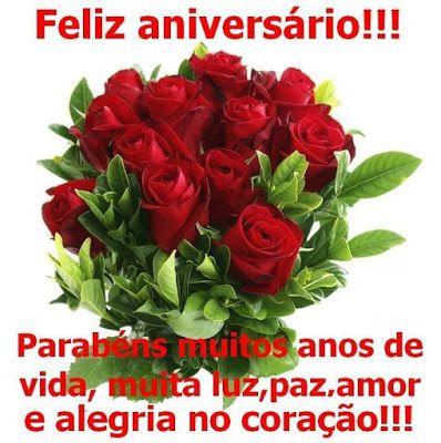 Mensagem De Feliz Aniversario Com Flores Com Imagens Feliz