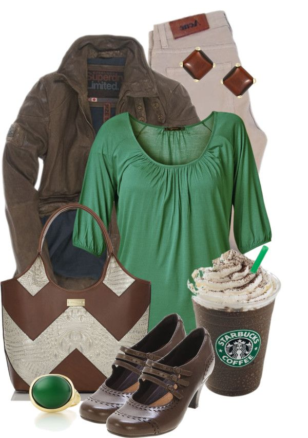 """""""green taste of coffee"""" by sagramora ❤ liked on Polyvore"""