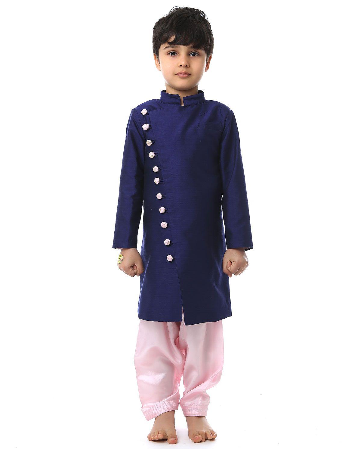 7dd974ac01a9 Blue Sherwani Set