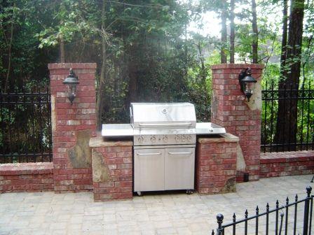 Build A Brick Grill Surround