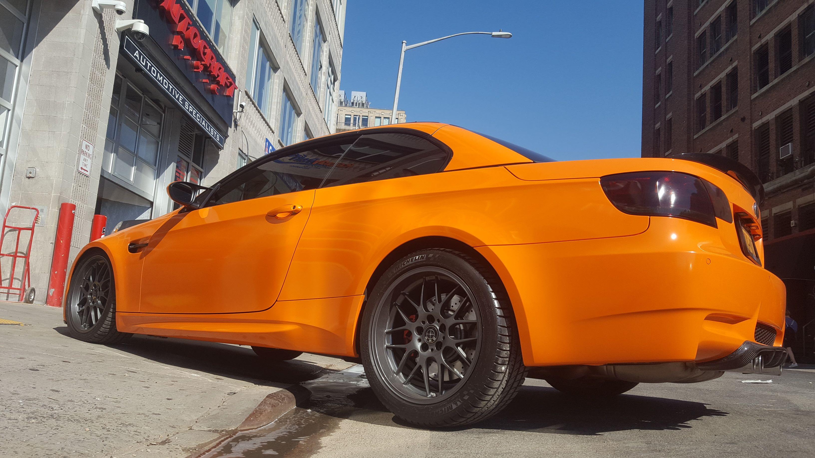 Full Orange Wrap Custom Wraps Custom Cars Entertainment System