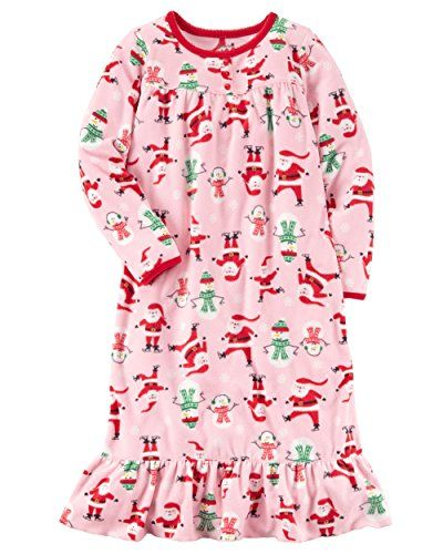 Big Girls  Long-sleeve Microfleece Christmas Nightgown  6db480a33