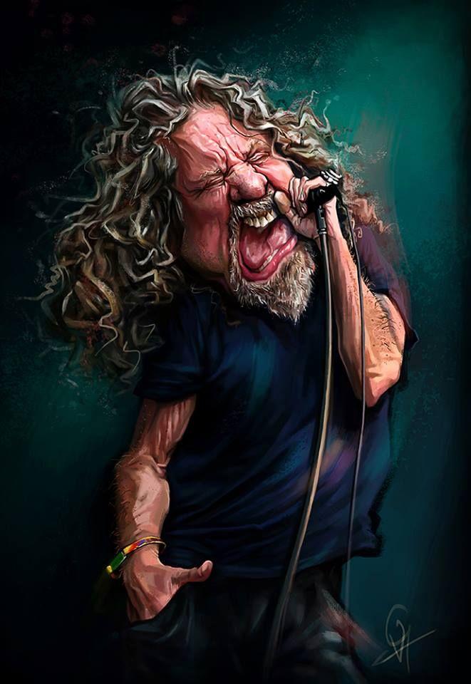 Robert Plant by Vera Gafton