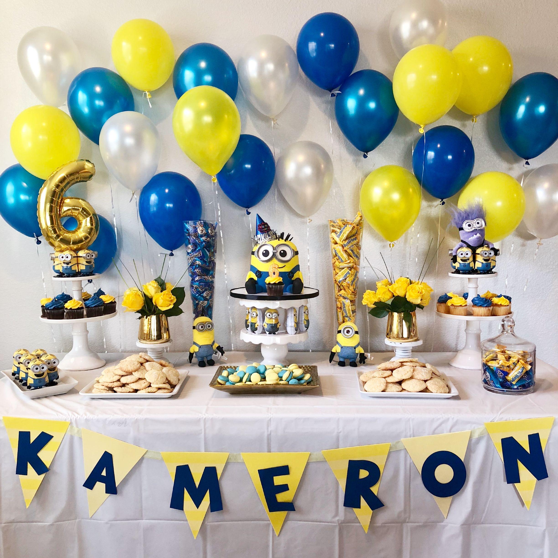 Minion birthday birthday party decorations diy minions