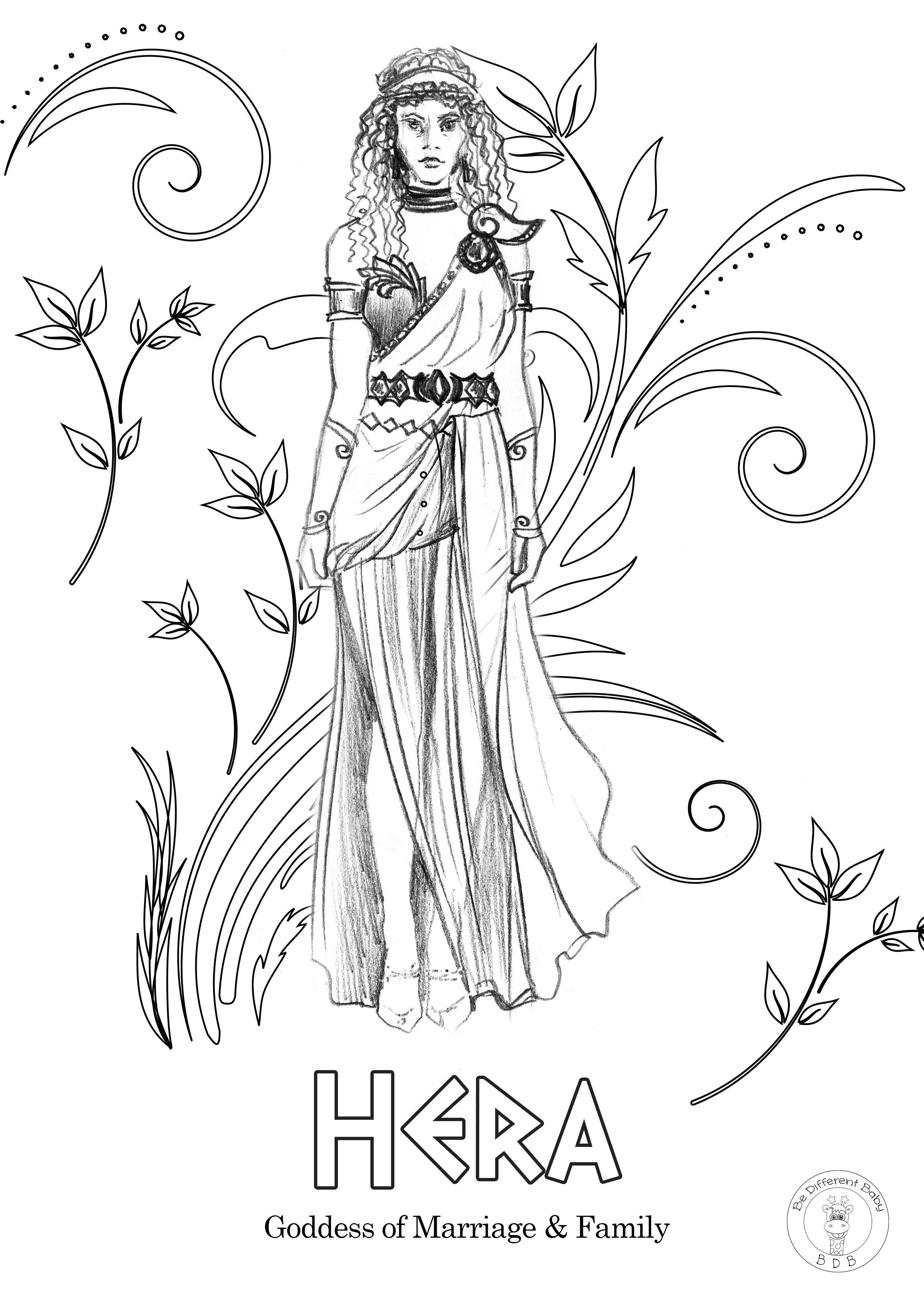 68 First-rate Greek Gods Coloring Pages — Conexionunder