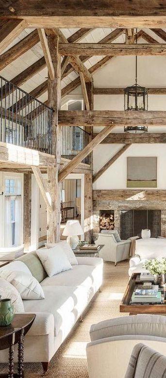 rustikale Wohnzimmereinrichtung im modernen Landhausstil - landhausstil wohnzimmer modern