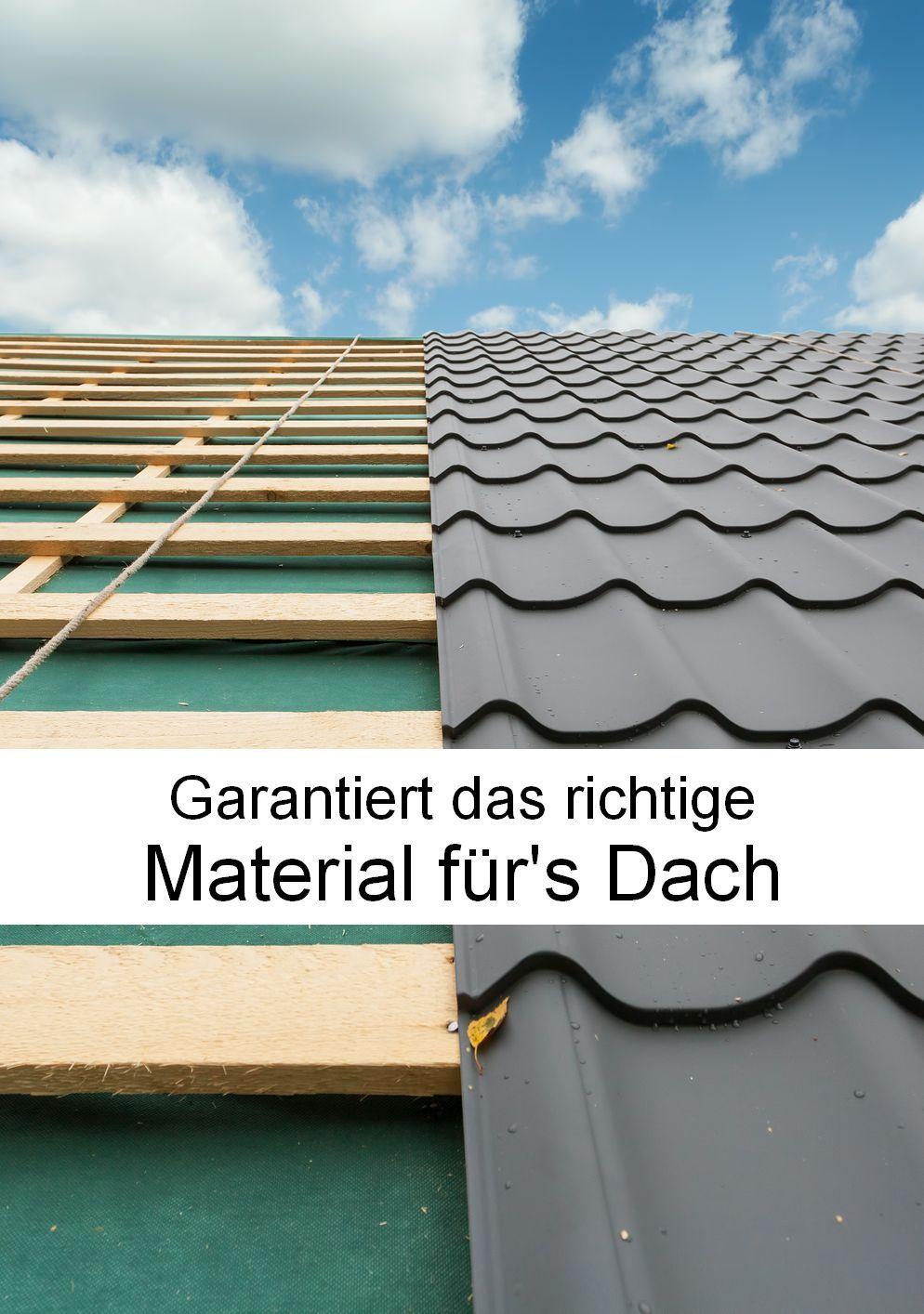 Material fürs Dach Darauf sollten Heimwerker achten