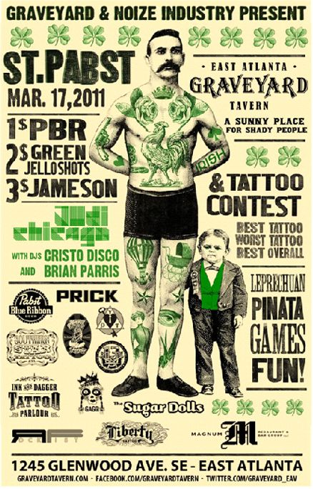St. Patrick's Day poster and flyer designs