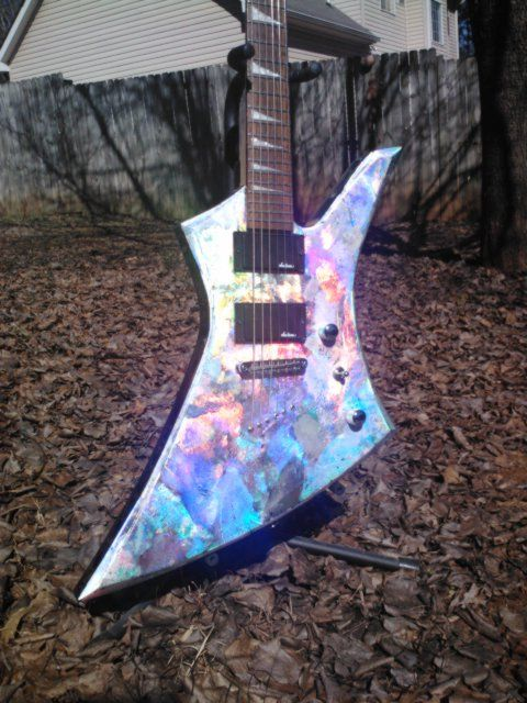 Jackson Kelly Guitar With Holographic Finish Ja In 2019