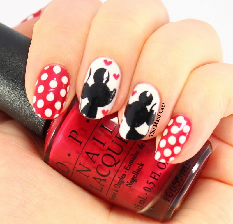 The Mani Café: Valentine - Mickey & Minnie #nail #nails #nailart ...