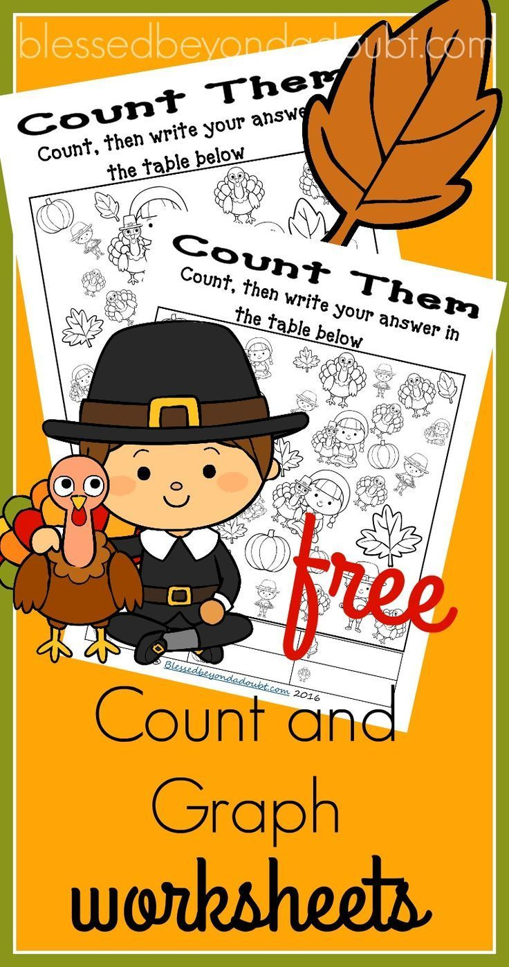 These Count and Graph Thanksgiving worksheets are perfect for the ...