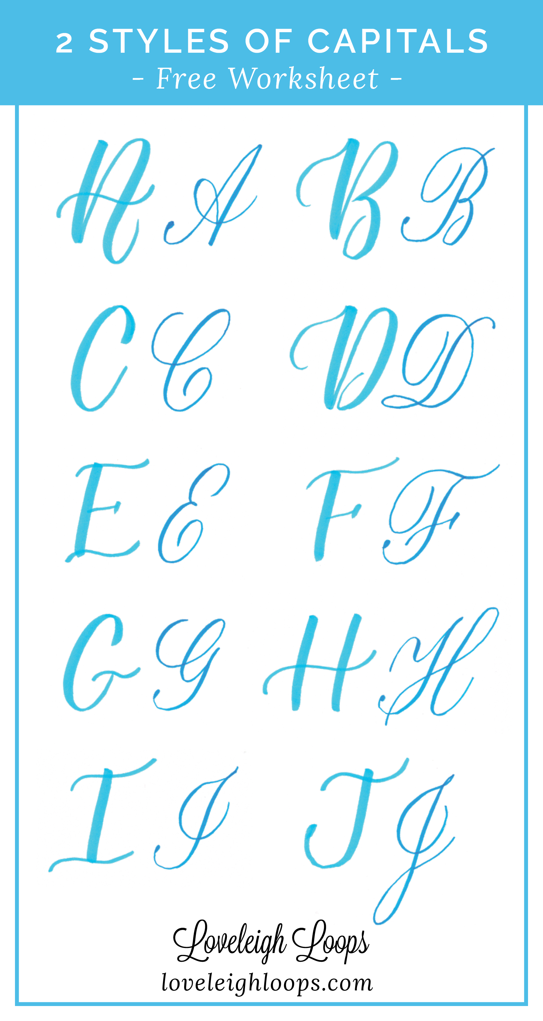 Learn 2 Styles Of Capital Letters In Brush Lettering