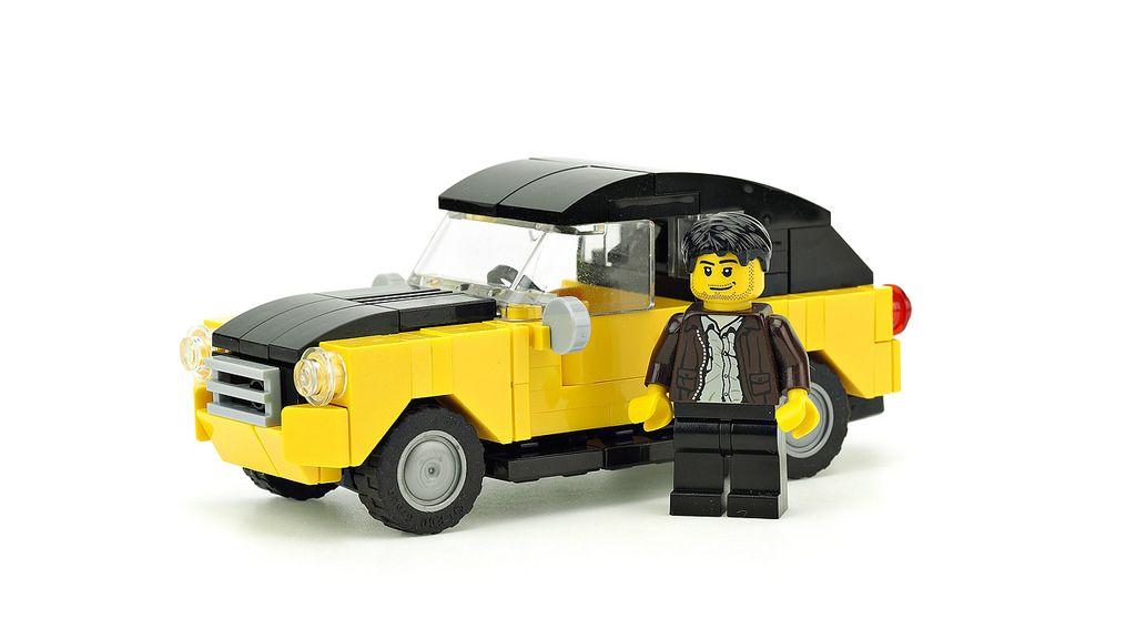 Old Yellow Car Lego